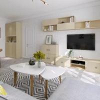 索菲亚电视柜入户柜客厅方案定制