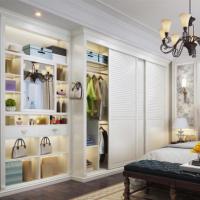 玛格简约欧式整体衣柜定制卧室强收纳储物滑门推拉门大衣柜
