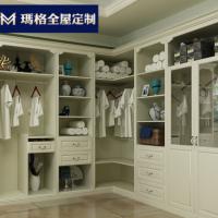 玛格白色欧式开放式推拉门订定制衣柜简约卧室整体衣帽间定做组装