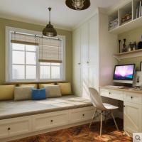 玛格简约欧式书房榻榻米定制整体卧室榻榻米床定做踏踏米飘窗家具