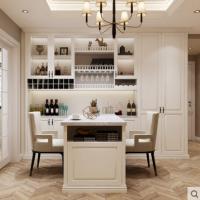 玛格全屋定制简约欧式客餐厅酒柜餐桌整体定制多功能客厅家具