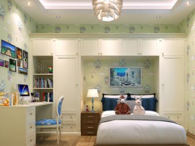 玛格全屋定制简约整体衣柜定制儿童床书桌柜组合儿童房家具定制