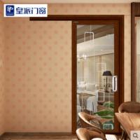 皇派门窗定做钛镁铝合金单轨道厨房吊趟门阳台卫生间单扇推拉移门