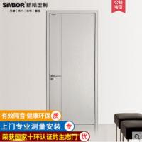 新标实木生态门平开室内复合免漆套装卧室定制隔音白色简约原木门
