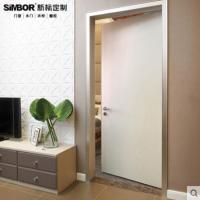新标定制实木复合生态门平开门室内门免漆套装门卧室门铝合金门套