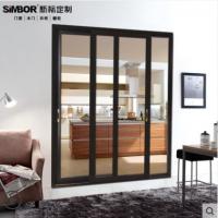新标定做门窗铝合金阳台客厅厨房隔断移门移动简约钢化玻璃推拉门