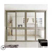 新标铝合金阳台室内门移门隔断铝镁厨房移动客厅门钢化玻璃推拉门