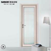 新标钢化玻璃铝合金平开门厕所卫生间大时尚简约移门洗手间厨房门