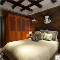 博郡家具定制 卧室多功能收纳存储衣柜 欧式平开4门立柜可到顶