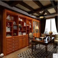 博郡实木书柜定制 欧式大空间全屋定制 多功能置物收纳柜定做