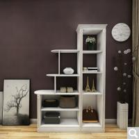 博郡 衣柜定制 室内客厅隔断玄关柜 入户储物展示柜定做简约现代收纳柜