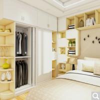 博郡 定制衣帽间整体衣柜定做 现代简约小百叶卧室柜子定金 可到顶大空间收纳柜