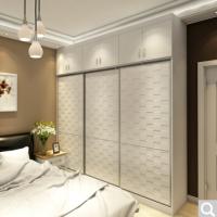 时尚现代简欧卧室衣柜定制 镜面立体凸纹定制多功能收纳柜子木质到顶大立柜