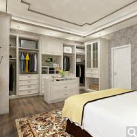博郡 定制家具 欧式实木卧室整体组合衣柜定制 三门收纳储物柜子衣帽间