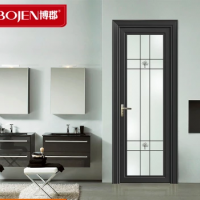 博郡赛博门窗定制 钛美铝合金室内阳台门 1.0厨房玻璃套装门
