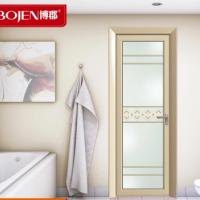 博郡室内厨房门定做 现代45度角平开门 隔音半透卫生间门