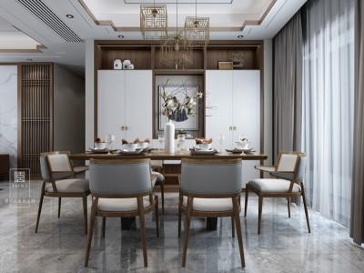 餐厅-新中式-玛格全屋定制集美膜压系列