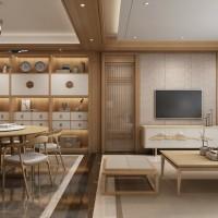客餐厅-新中式-玛格全屋定制集美膜压系列